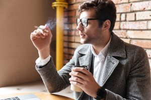 Smoking tobacco indoors causes bad air quality