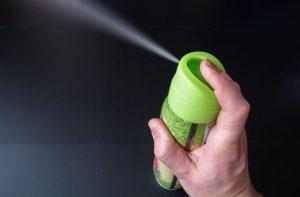 Spraying air freshener