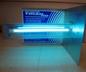 Uv light for air filter indoor air quality